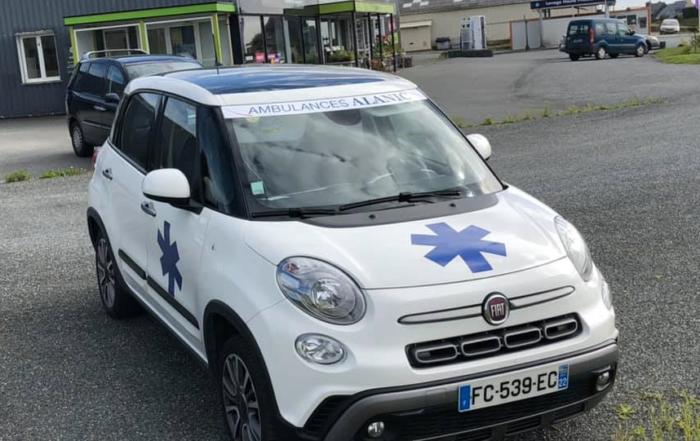 stickers pour véhicules réalisés pour les ambulances Alanic Pleubian