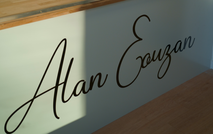 Lettrage pour le chocolatier alan eouzan