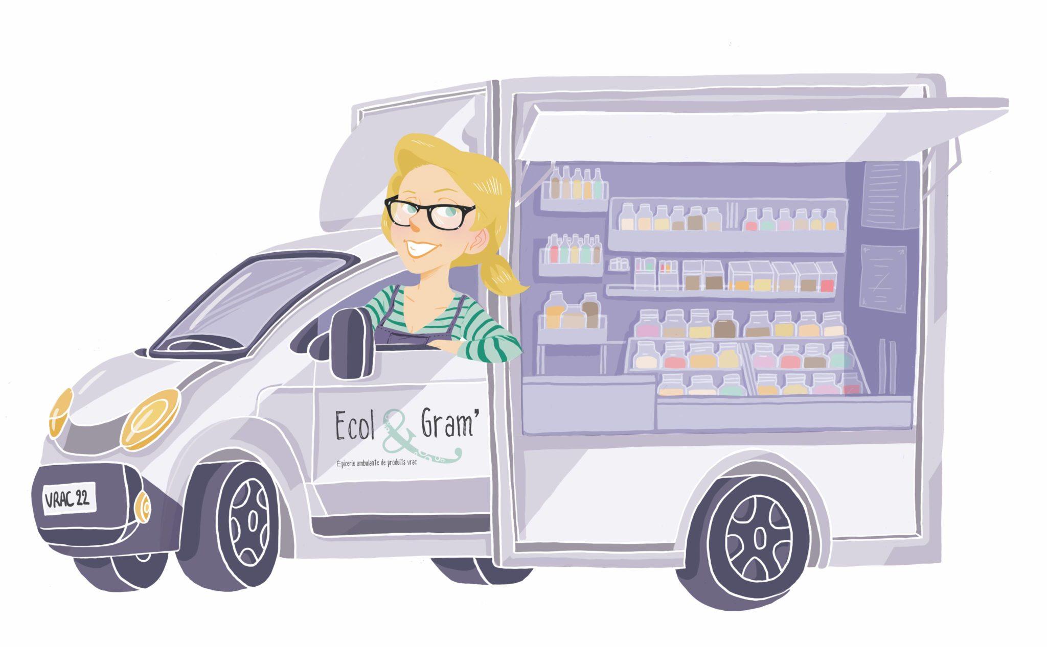 dessin du camion ecol et gram